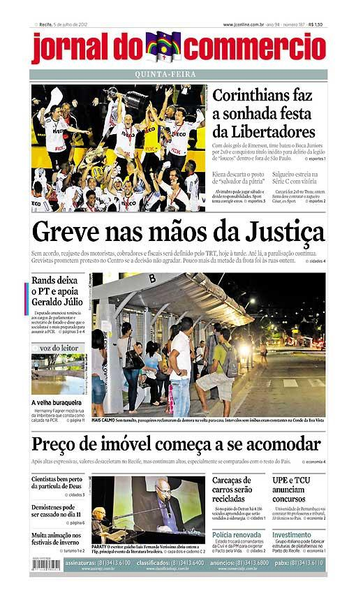 Capa do Jornal - 05/07/2012 