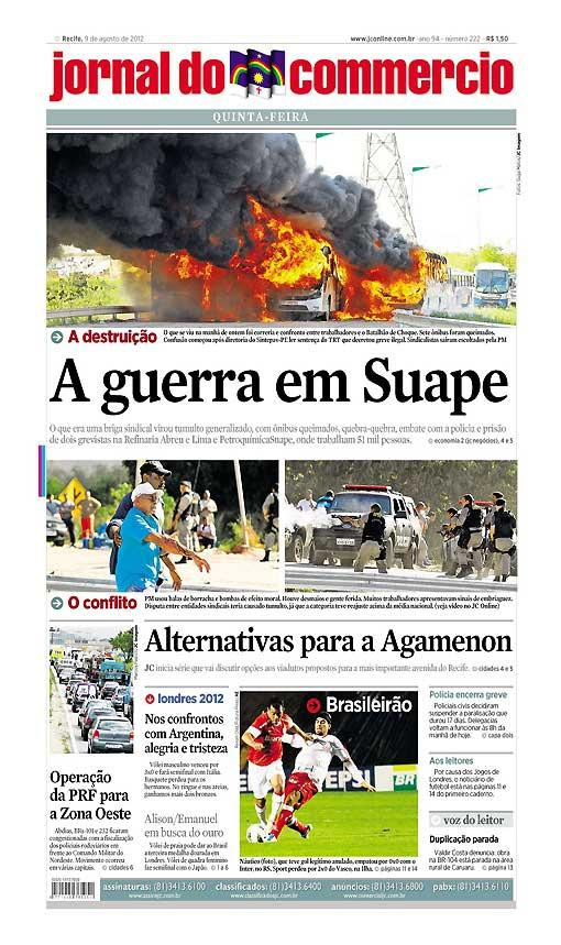 Capa do Jornal - 09/08/2012 