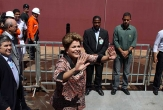 Pela manh&atilde;, presidente Dilma Rousseff foi a Suape para lan&ccedil;amento de navio Zumbi dos Palmares