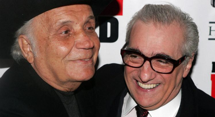 Jake LaMotta e Martin Scorsese na sessão especial do aniversário de 25 anos do filme Touro Indomável / Peter Kramer / GETTY IMAGES NORTH AMERICA / AFP
