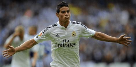 James estava no Real Madrid desde 2014 / AFP